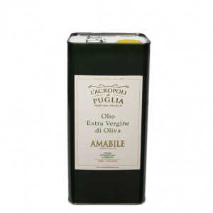 lattina di olio amabile extravergine di oliva da 5 litri