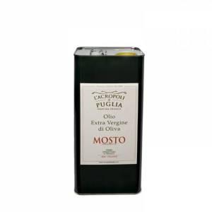 lattina di olio extravergine di oliva mosto da-5-lt
