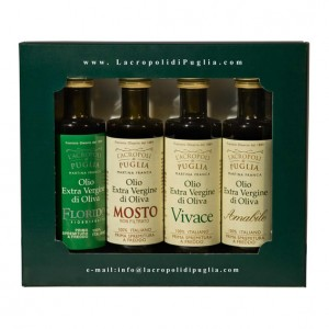 Extra Virgin olive oil tasting set 4 bottles 100 ml