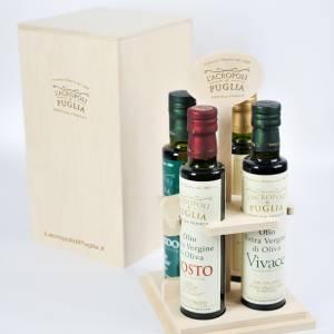set legno olio extravergine di oliva