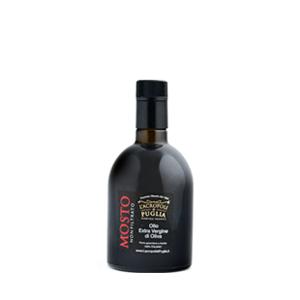 olio mosto extra vergine di oliva con bottiglia anti-rabbocco da 250 ml