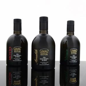 Extra Virgin olive oil tasting set 3 bottles 500 ml